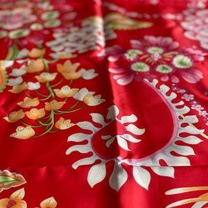 Vintage Salvatore Ferragamo Silk Scarf Red Floral